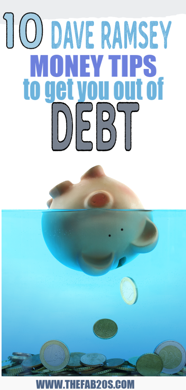 Everyone needs money tips and financial advice! This article will give you 9 Dave Ramsey money tips on how to get out of debt, save, invest, and take control of your finances! The best money advice out there! #financialfreedom #financialtips #finances #savingmoney #savingmoneytips #frugalliving