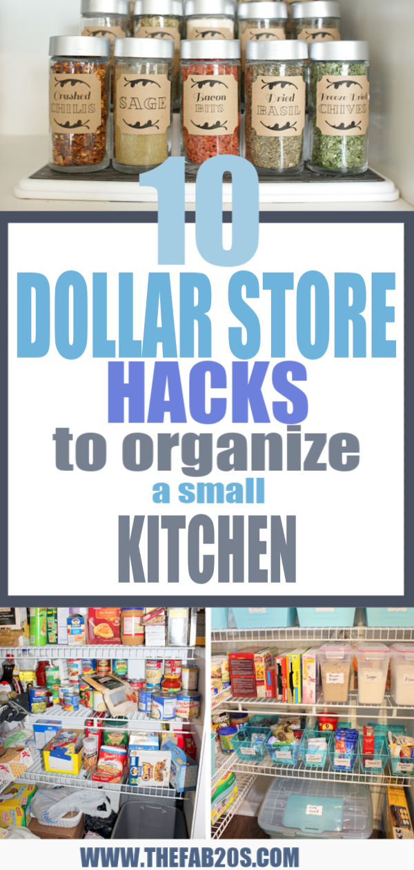 10 DOLLAR STORE HACKS TO ORGANIZE A SMALL KITCHEN