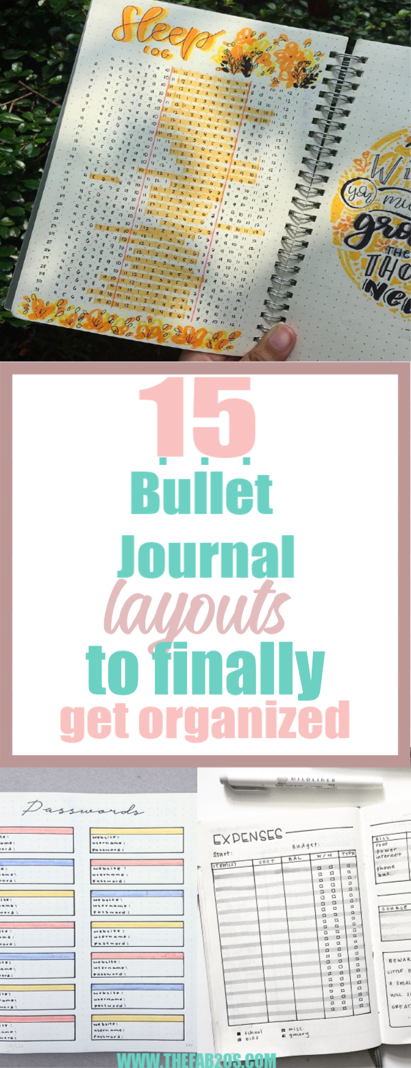 Get organized and conquer your day with 15 BULLET JOURNAL PAGES To Help You Finally Adults. Focus on your health, creating better habits, and living your best life with a bunch of ideas on how to better manage and organize your daily life with a Bujo #Bujo #BulletJournal #bulletjournalideas #bulletjournalinspiration