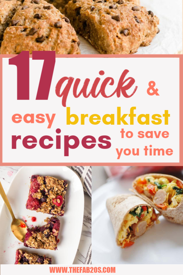 17 Quick And Easy Breakfast Recipes To Save You Time. You can meal-prep these Sunday night or make them the night before. #makeahead #makeaheadmeals #breakfast
