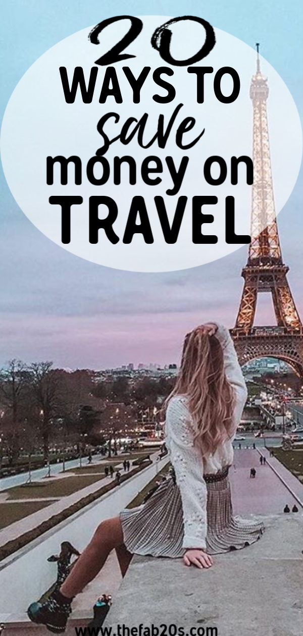 20 of the best travel saving tips. If you want to learn how to travel on a budget in your 20s, this is the post for you! I always get asked how to afford travel as a student and now you can learn hor to travel frugally. These money saving travel hacks are great! #travel #traveltips
