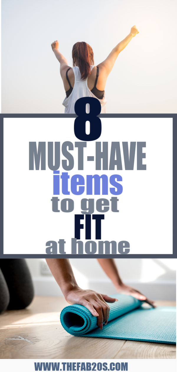 8 Must-Have Items To Get Fit At Home. You don't need a fancy gym membership or expensive equipment to get a good workout at home. #Fitness #Workout #Muscle #GetFit