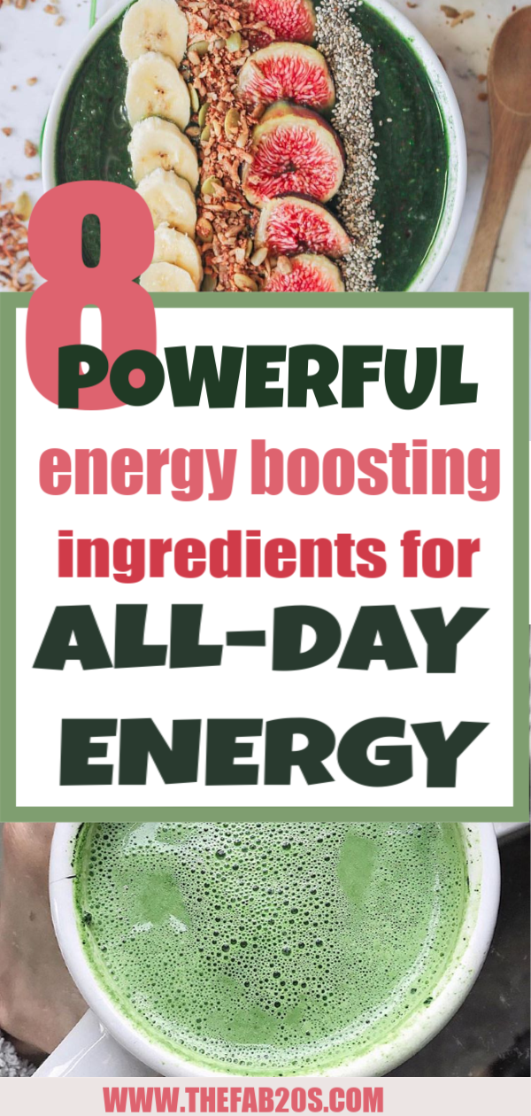 8 Powerful energy boosting ingredients for all-day energy. We all want to be energetic throughout the day and not have the 3PM crash, here are 8 things you can add to your diet to naturally boost your energy. #energy #wellness