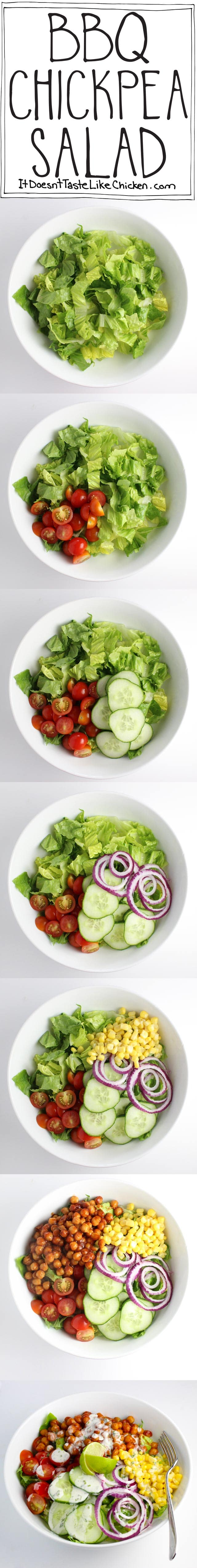 BBQ Chickpea Salad #vegan
