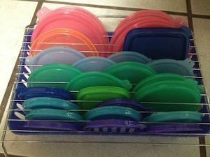 tupperware lid storage