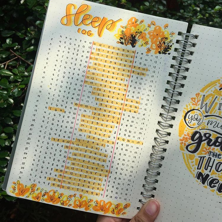 Sleep Log Bullet Journal Tracker. Get organized and conquer your day with 15 BULLET JOURNAL PAGES To Help You Finally Adults. Focus on your health, creating better habits, and living your best life with a bunch of ideas on how to better manage and organize your daily life with a Bujo #Bujo #BulletJournal #bulletjournalideas #bulletjournalinspiration