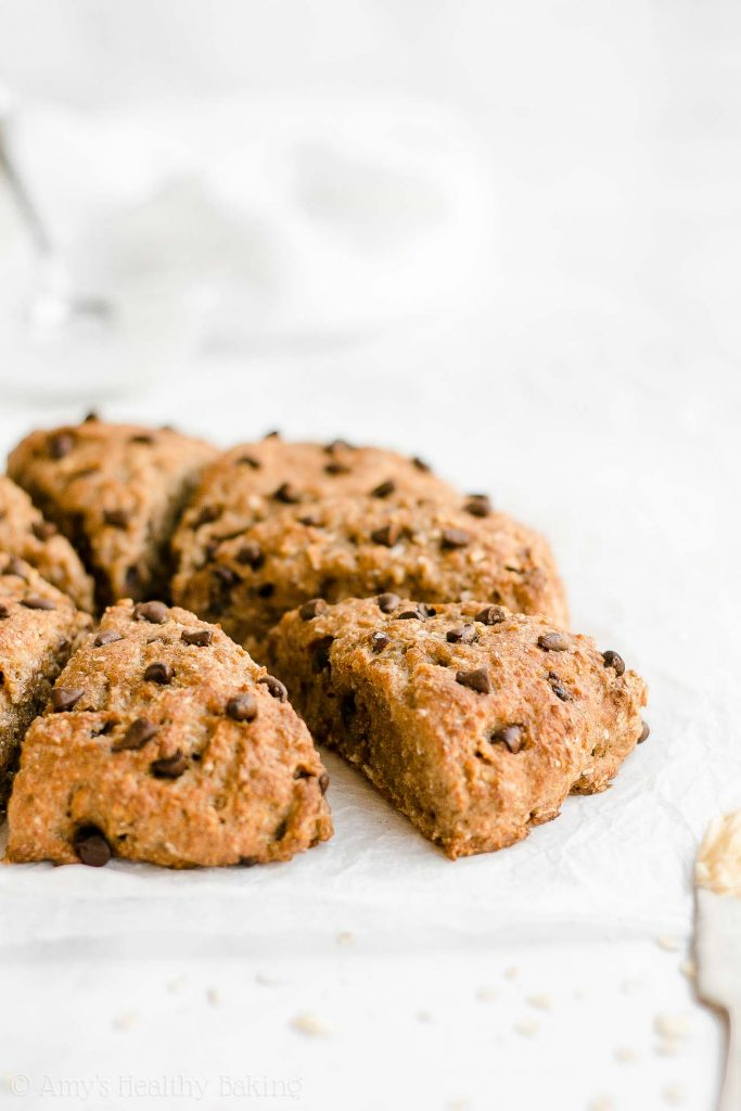 Make Ahead Healthy Chocolate Cookie Scones. 17 Quick And Easy Breakfast Recipes To Save You Time. You can meal-prep these Sunday night or make them the night before. #makeahead #makeaheadmeals #breakfast