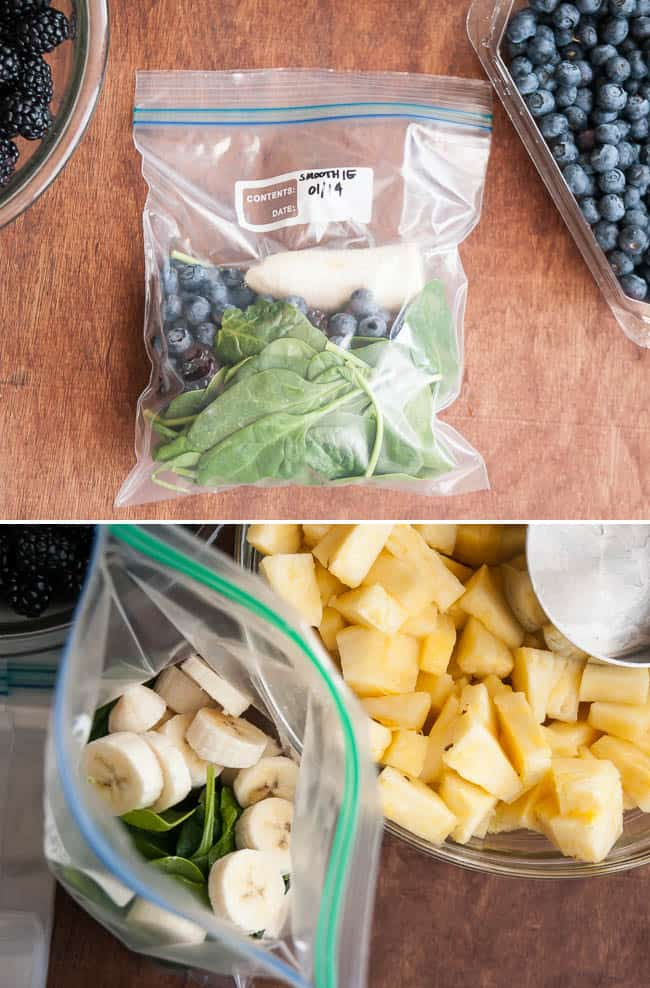 Make Ahead Frozen Smoothie. 17 Quick And Easy Breakfast Recipes To Save You Time. You can meal-prep these Sunday night or make them the night before. #makeahead #makeaheadmeals #breakfast