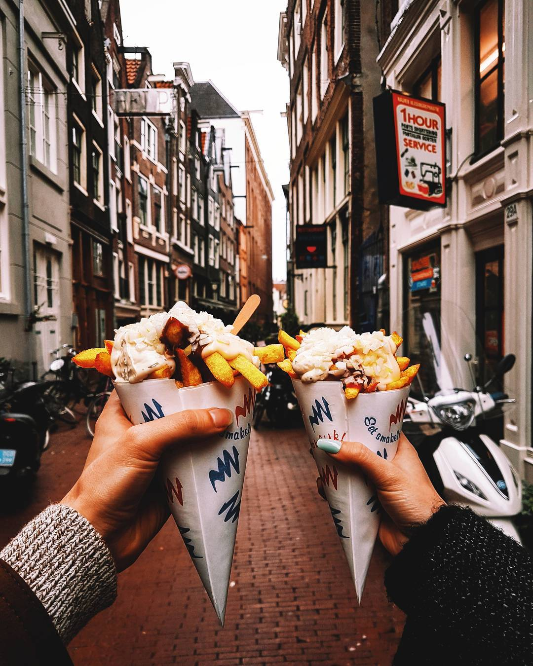 13 Things You Must Do In Amsterdam. Try Patat Frites. Whether it's your first time in the city or you have been to Amsterdam numerous times, you truly haven't experienced the city until you do these activities. #Amsterdam #Travel #Traveler #Netherlands