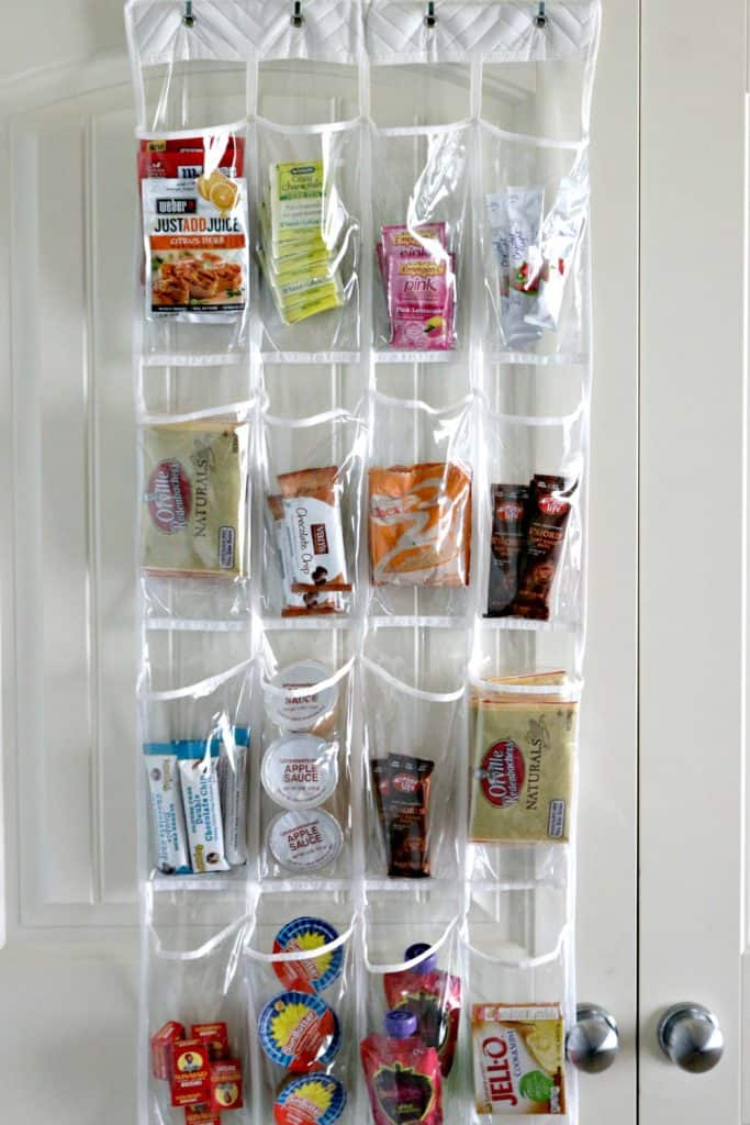shoe organizer in kitchen