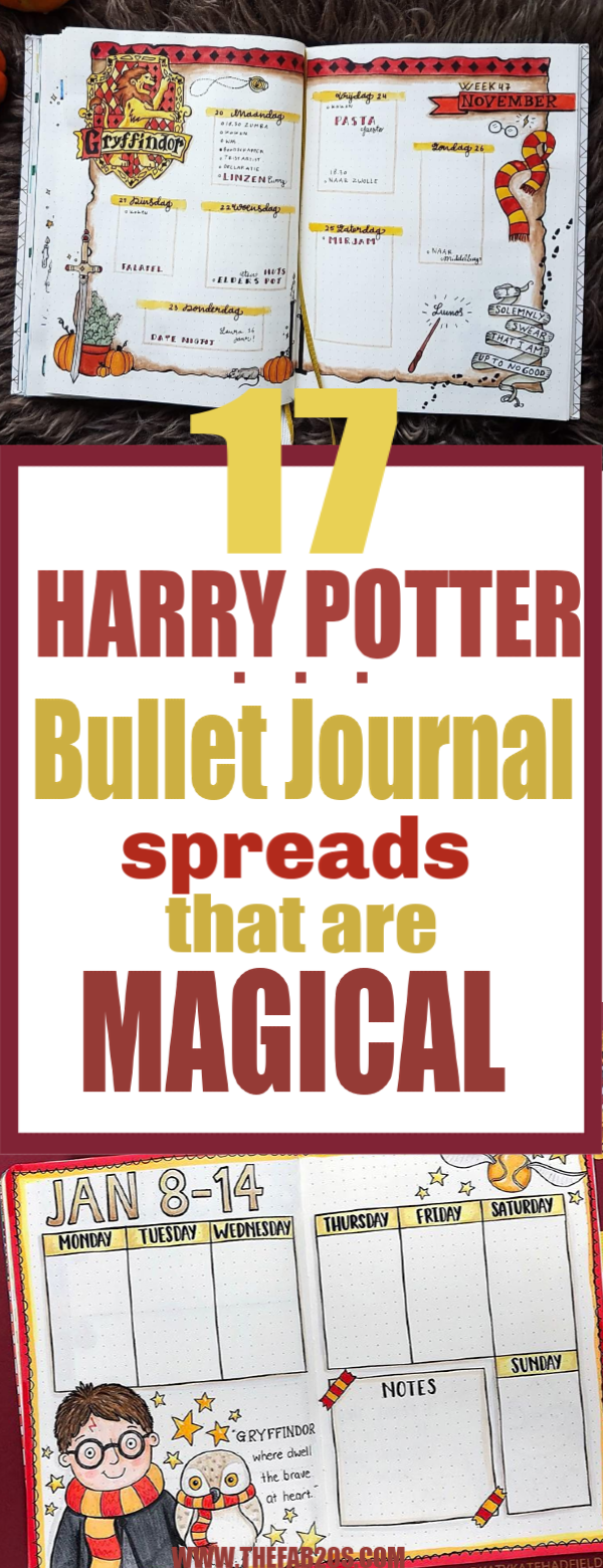 17 Harry Potter Bullet Journal Spreads That Are Magical.