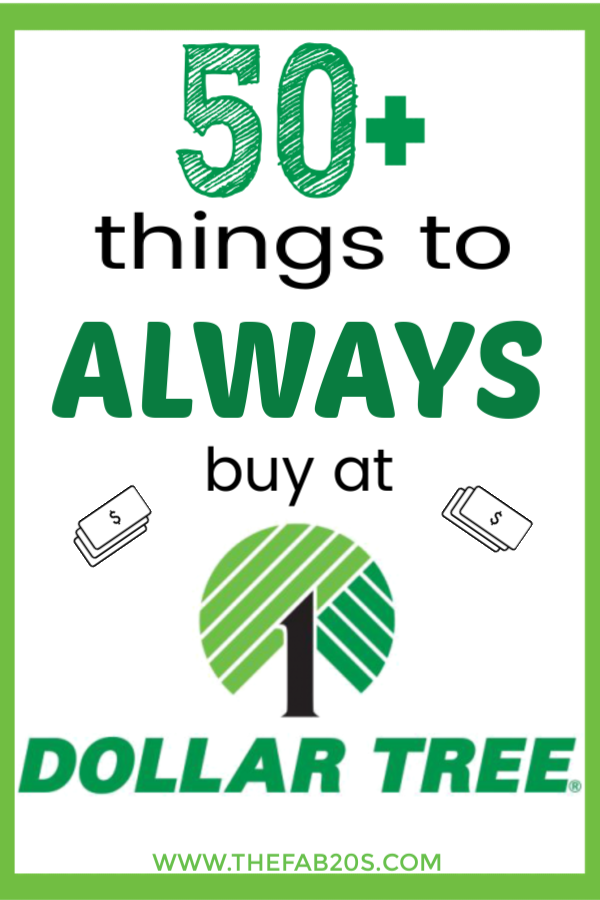 50+ things you should always buy at Dollar Tree and money saving tips so you can save the most money every time you shop. Learn what to buy at Dollar Tree to save the most money. #dollartree #frugal