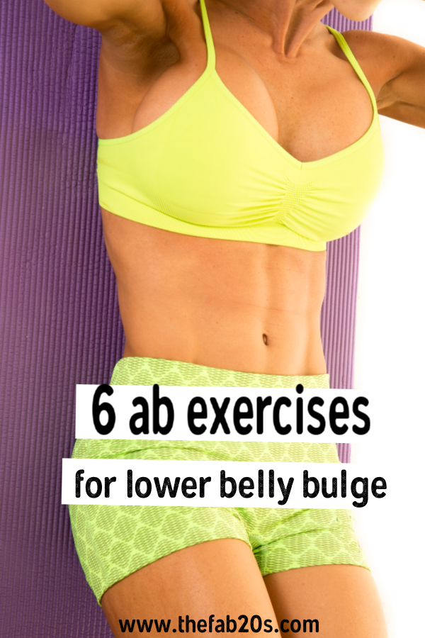 The 6 Best Ab Exercises To Finally Lose The Lower Belly Bulge and get a flat stomach. These lower ab workouts for woman will help you target that problem area we all have. #lowerabs #ab #abworkout
