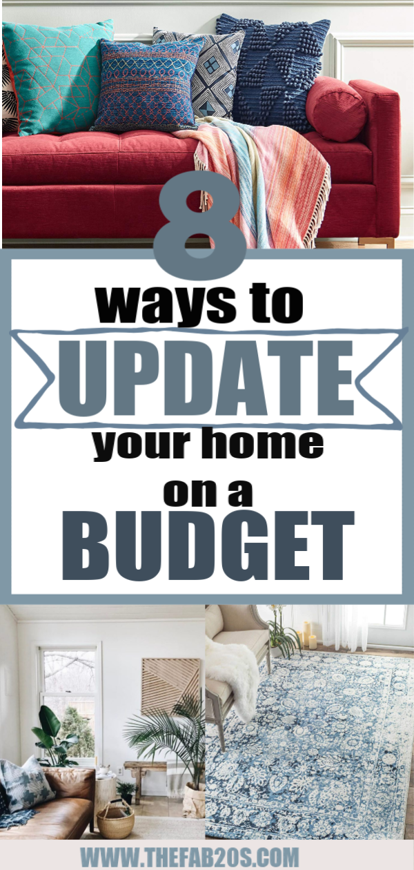 8 Ways To Update Your Home On A Budget. I was looking for unique and fun ways to spruce up my home, either with accents, plants, or wallpaper. these are some budget-friendly ways to make a room come to life. #homedecor #home #homeinspo