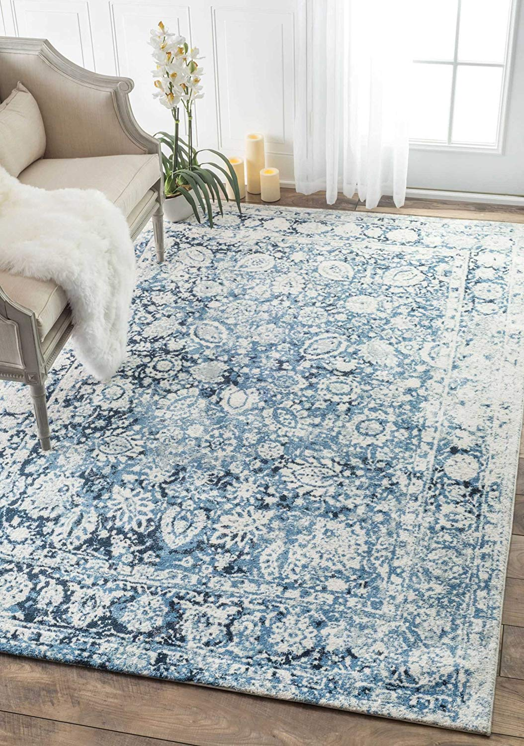 Make a plain room pop with a bright and fun rug plus 8 Other Ways To Update Your Home On A Budget. I was looking for unique and fun ways to spruce up my home, either with accents, plants, or wallpaper. these are some budget-friendly ways to make a room come to life. #homedecor #home #homeinspo