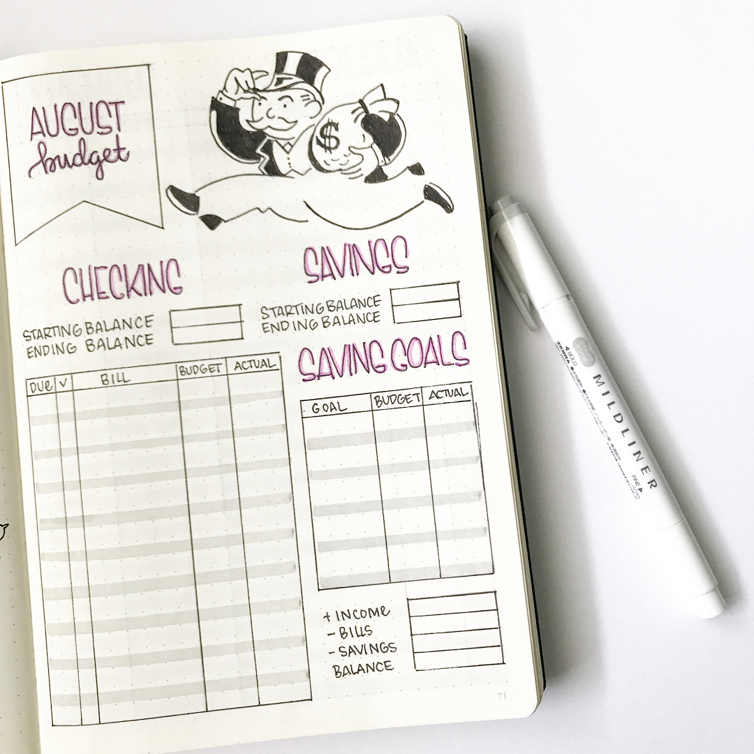 10 Bullet Journal Trackers To Manage Your Money