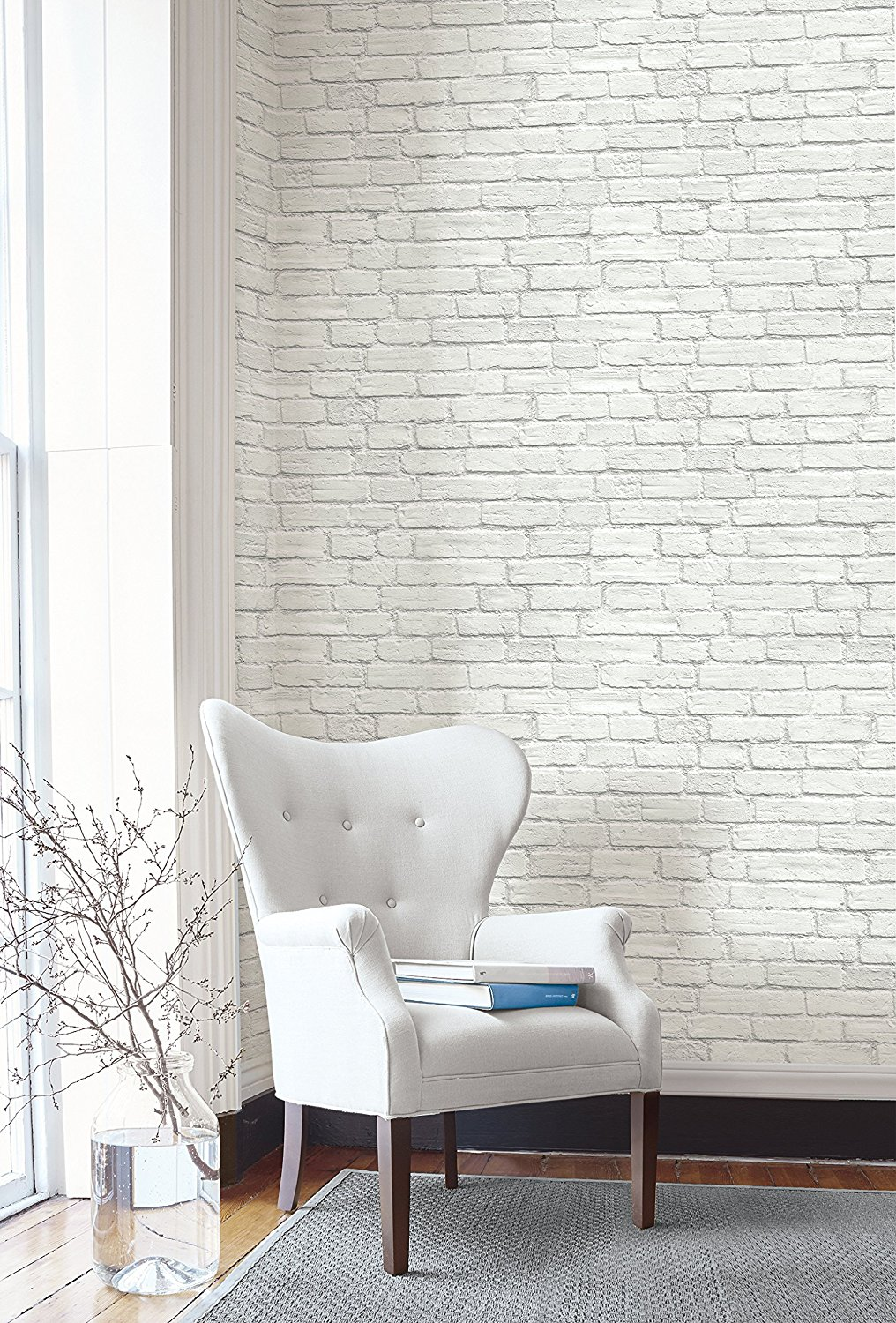 Faux Brick Wallpaper and 8 Other Ways To Update Your Home On A Budget. I was looking for unique and fun ways to spruce up my home, either with accents, plants, or wallpaper. these are some budget-friendly ways to make a room come to life. #homedecor #home #homeinspo