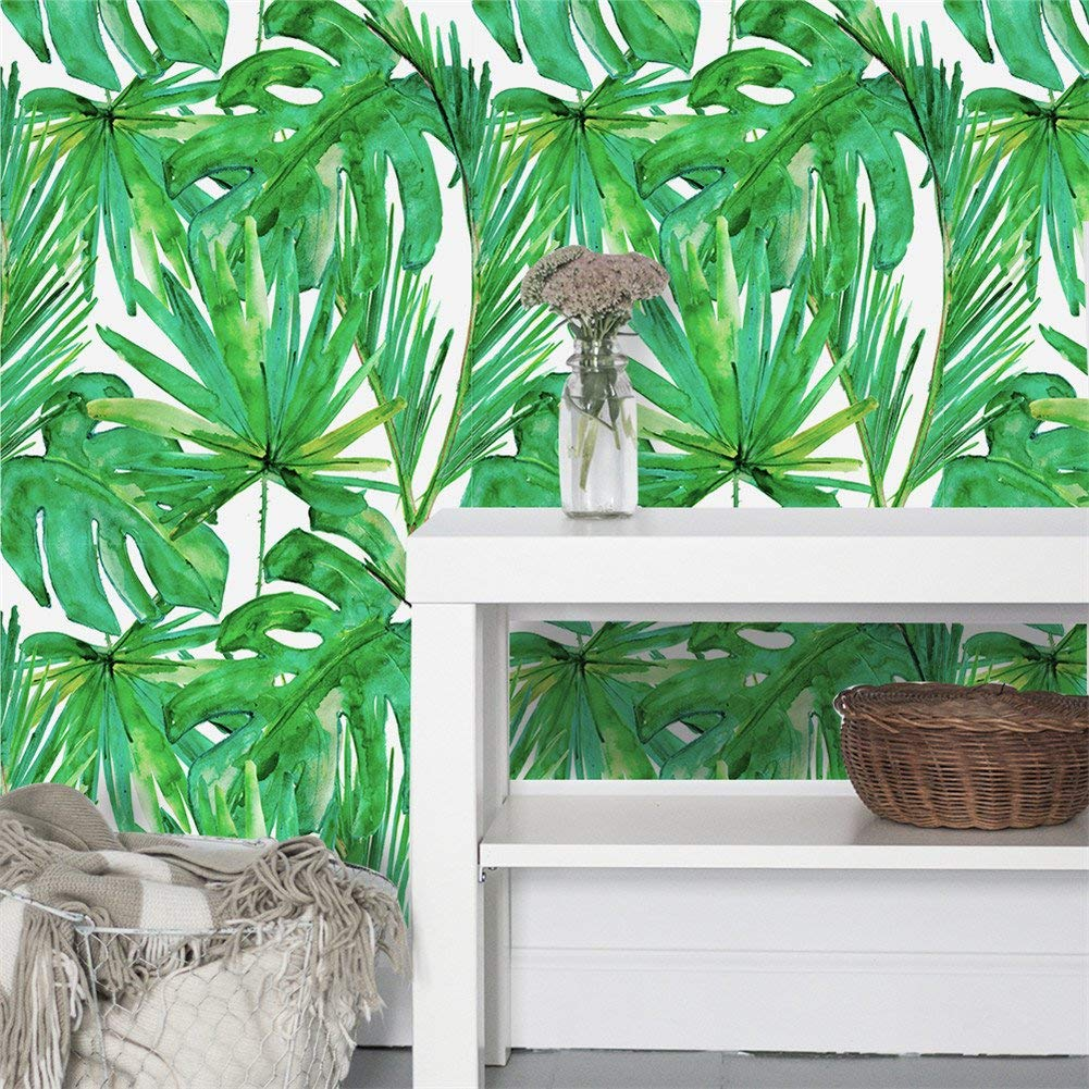 Funky tropical wallpaper and 8 Other Ways To Update Your Home On A Budget. I was looking for unique and fun ways to spruce up my home, either with accents, plants, or wallpaper. these are some budget-friendly ways to make a room come to life. #homedecor #home #homeinspo
