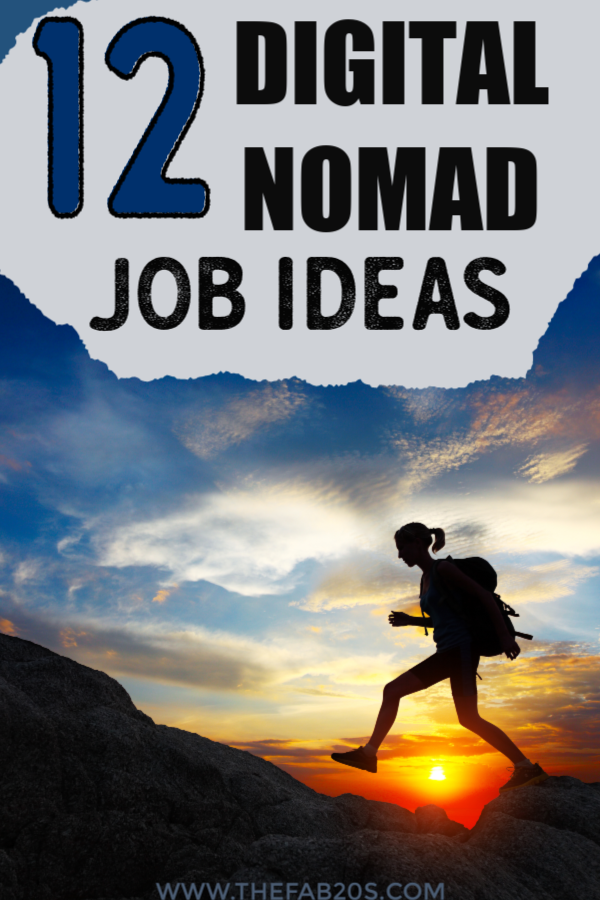 12 Digital Nomad Job Ideas. Escape the 9-5 and live the life you love. You can become location independent with these 12 Digital Nomad jobs that allow you to work from anywhere in the world as long as you have good wifi. #digitalnomad #digitalnomadjobs