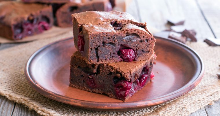 Paleo Chocolate Cherry Brownies I Gluten + Dairy Free