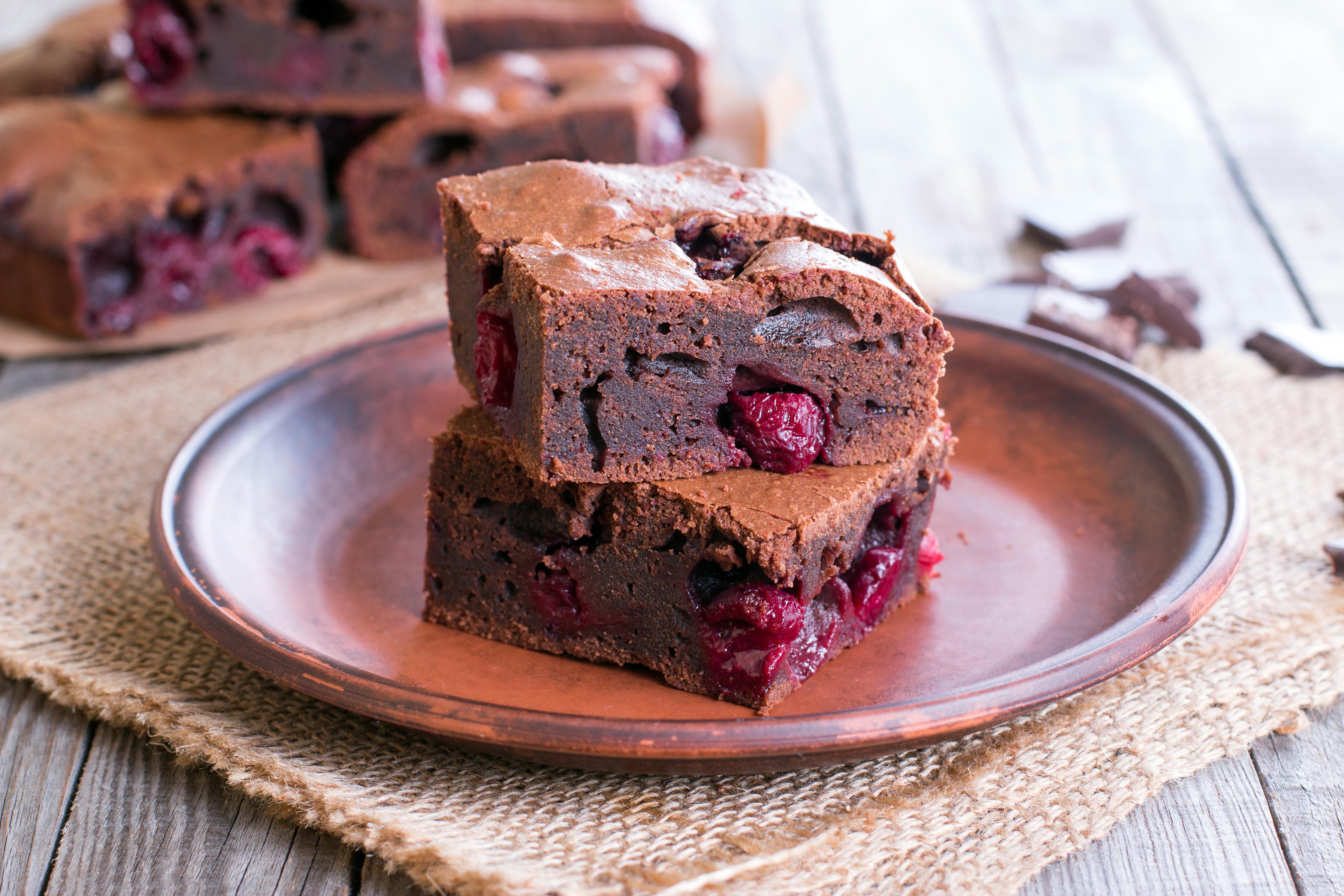 Paleo Chocolate Cherry Brownies I Gluten + Dairy Free