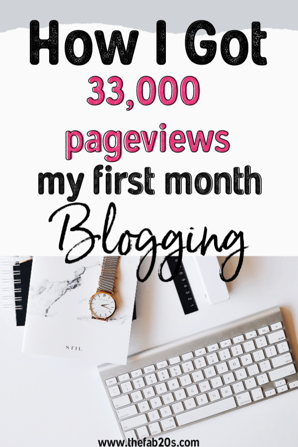 My First Month Blogging Income Report!! I am so excited to share this with you. How I got 33,000 pageviews my very first month blogging! This report is filled with tips and tricks, what worked and what didn't. And how I plan to make money moving forward. #blogging #incomereport #firstmonth