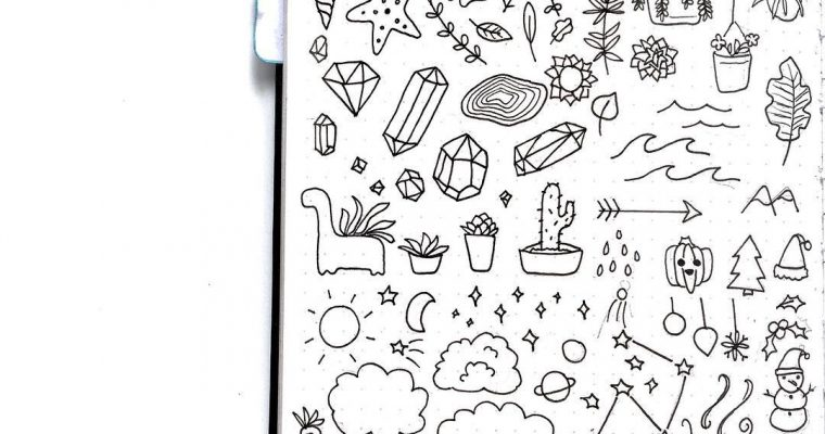 200+ Doodle Ideas To Try In Your Bullet Journal