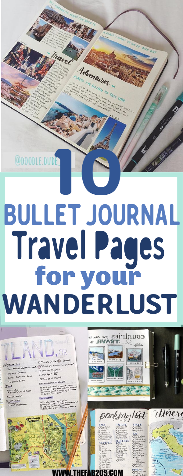 Is your goal to travel? Then you'll love these great BULLET JOURNAL TRAVEL page ideas and spreads. Let me take you on a journey from a bucket list wishlist, to an itinerary tracker and map page in your travelers notebook, to saving up the budget, to enjoying your travels, to capturing your memories in a scrapbook, with diary entries and doodles. Get bujo inspiration from these unique and creative travel journal ideas to plan your next getaway #bulletjournal #bujo
