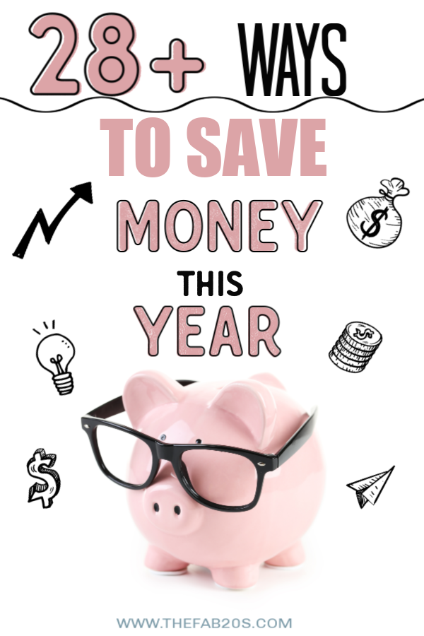 28+ Ways to Save Money in 2020 | Saving money is hard when you think of it on a huge scale, but it's easy if you break it up into small groups of easy savings | save money | budget | budgeting | saving money for college | ways to save a ton of money #budgeting #savemoney #money