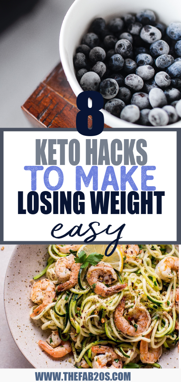 8 Keto Diet Hacks You Wish You Knew Sooner. Tips And Tricks That Will Make The Ketogenic Diet So Much Easier To Follow! These keto diet hacks are great for weight loss. Keto tips for beginners for losing weight fast! #ketogenic #keto #ketogenicrecipes