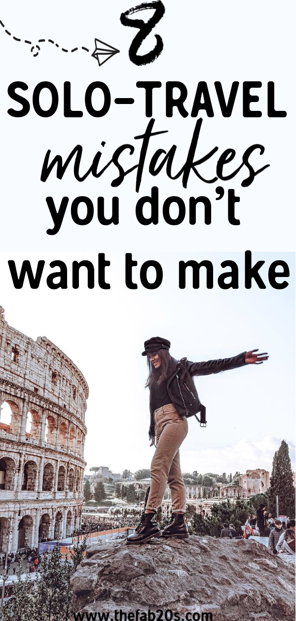 Are you preparing for a Solo Trip? Don't make these common solo travel mistakes. It's important to be safe when you are a woman traveling alone abroad. A lot of tips for solo female travelers that will hopefully help you plan your adventures better! First time solo travel tips & ideas #travel #solotravel