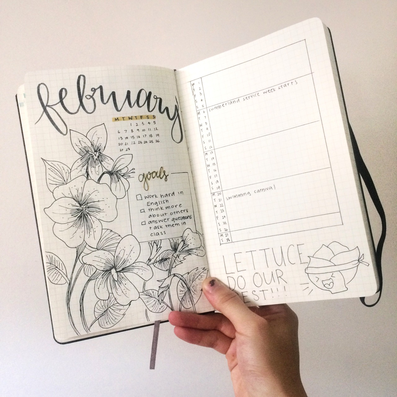 13 Monthly Bullet Journal Spreadys That You WIll Love!! This is EXACTLY what I needed! A list of bullet journal monthly spread ideas for inspiration. Cannot wait to try these bujo layouts next month. #bulletjournal #monthlyspreads