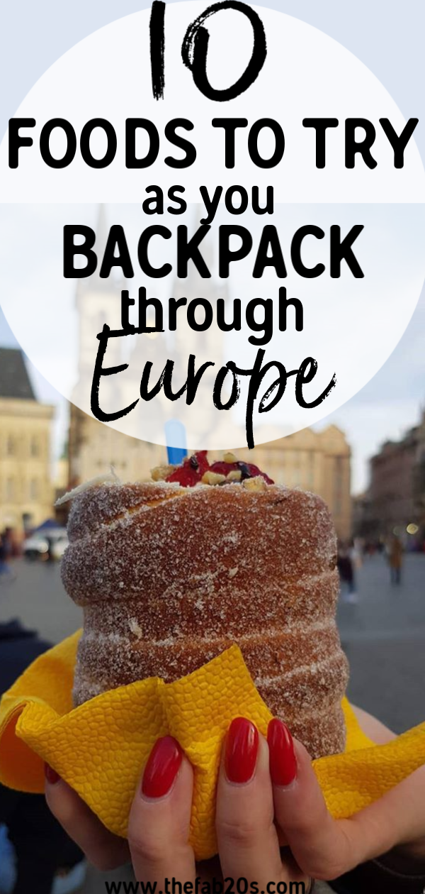10 must try dishes in europe! You have to add these foods to your bucket list. Add these to your food bucket list ideas. New Foods to try in Europe. #foodietravel #travel #wanderlust