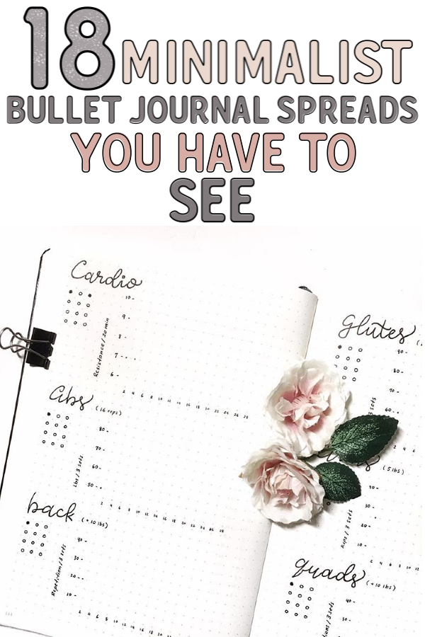 18 Simple, Beautiful and Minimalist Bullet Journal Weekly Spreads/Layouts you need to try right now. Easy Bullet Journal Spreads! You'll find all kinds of collection pages include key, index, budget & finances, workout, monthly cover, habit tracker, yearly calendar, future log, daily log, weekly spreads, books to read, and more to setup your minimalist bujo. monochromatic highlighting and other tips #bulletjournal #bulletjournalweeklylog #bujo #weeklyspread