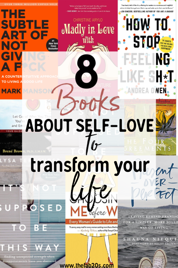 8 Books about self love to heal your soul. These are the best books on learning to love. Best Books on self compassion and forgiveness. Learn to let yourself off the hook. Best books to learn about yourself. These self help books are a must read for woman in their 20s. #books #bookstoread #selflove