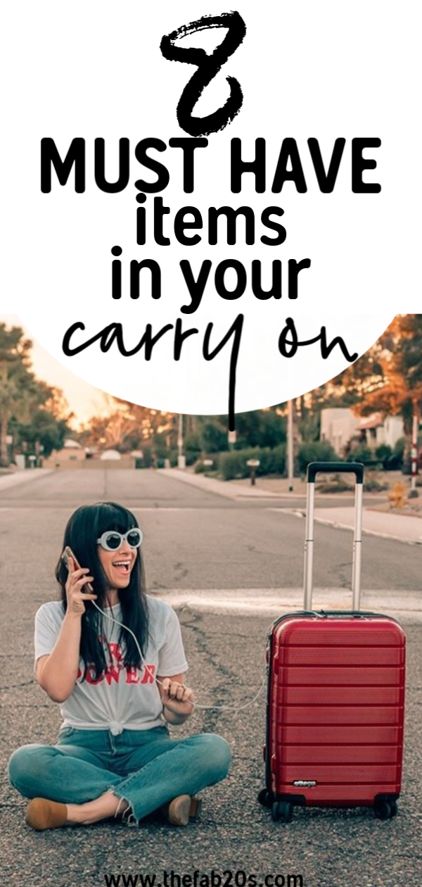8 must have items in carry on to get through a long-haul flight. I take these comfort items for air travel every time I travel. These are my best tips and tricks for surviving a long flight or layover. If you need a packing list for the plane, this is it!! #travel #carryon #wanderlust
