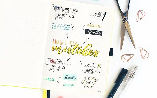5 Ways To Fix Your Bullet Journal Mistakes (& Avoid Making Them)
