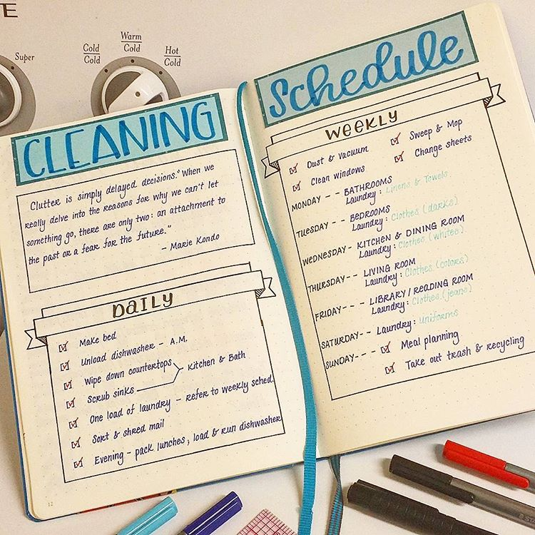 17 Bullet Journal Cleaning Spreads You'll Love!! Amazing cleaning tracker bujo ideas to try out in your bullet journal! cleaning tracker monthly spread ideas as well as weekly to keep a neat and tidy home! #bujo #bulletjournal #bujojunkies #spreadideas