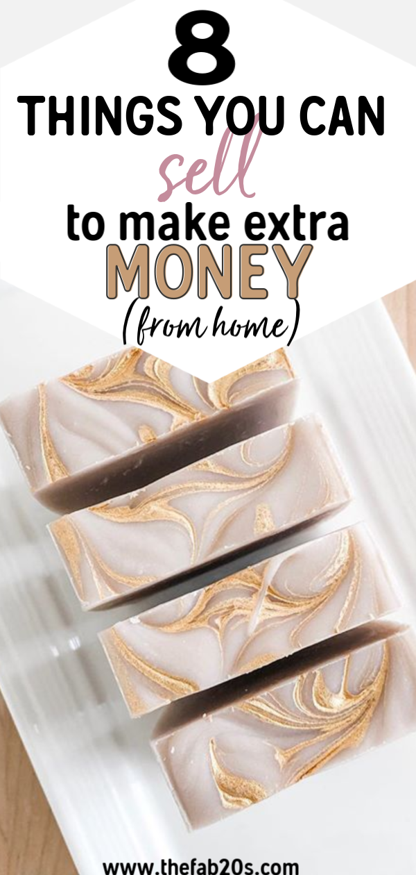 8 Things you can sell to make extra money from home. Easy crafts and things to make and sell for profit. Dog things to make and sell. Create a realistic, attainable side business. Popular things to make and sell for your side hustle. Easy things to make and sell for money. Easy crafts for work at home moms to try. #sidehustle #makemoney #wahm