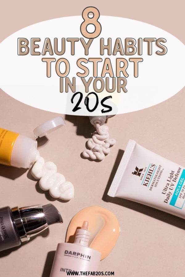 8 Beauty Habits To Start In Yours 20s. SHould you be using firming cream in your 20s? How to age well in your 20s. How to take care of your skin in your 20s. From moisturizers to SPF, learn the basics of skincare for twenty-somethings #beauty #skincare
