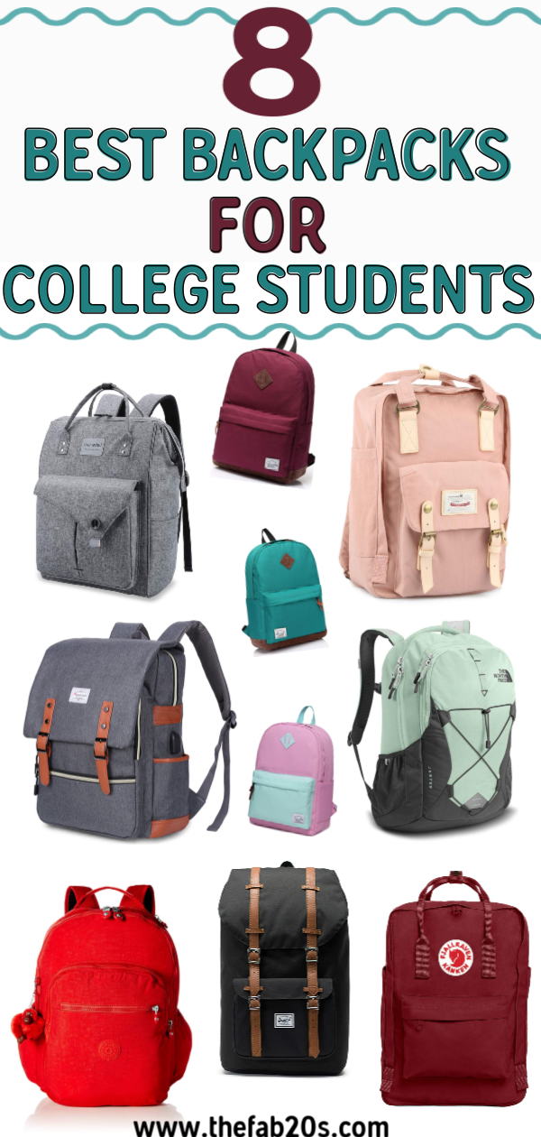 The 8 best college backpacks for both girls and boys! Best college backpacks under 100 and best heavy duty college backpacks that will last you from freshman year to senior year. Even the best backpacks with water bottle holders. Whether you want a stylish, chic, or serious bag there's something here for you you'll love. #college #collegetips #collegebackpack #collegeblogger