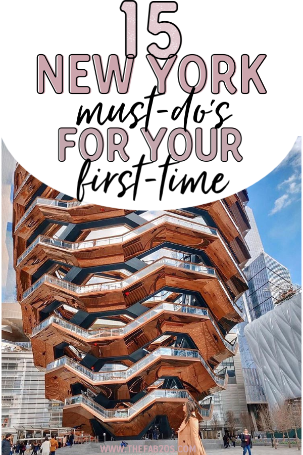 15 Things You Must Do in New York City Your First Time. Want to visit New York City like a local but have no idea where to go or what to see in New York City?  #NYCwithkids #thingstodonyc #NYCtravelguide #nycfamilyguide #nyc #newyorkcity #nyctips
