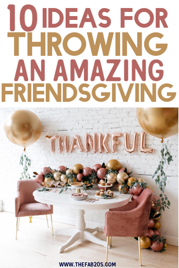 Amazing and cute Friendsgiving ideas for your next party! From Friendsgiving decorations to drinking games, find the best tips and trick here! This will make your Friendsgiving party amazing! And best of all these ideas are all SUPER budget friendly ! #friendsgiving