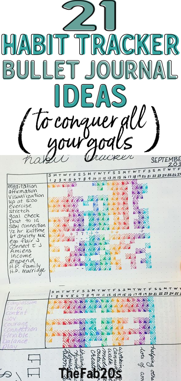 Looking for awesome habit tracker ideas for your bullet journal? Click through to find 21 amazing habit tracker bullet journal ideas! ⎜habit tracker bullet journal layout, habit tracker layout, bujo habit tracker #bujo #bulletjournal #habittracker #bulletjournalideas