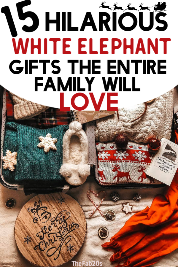 Looking for White Elephant Gift Ideas for this Holiday Season? I've got you covered! I have found 15 of the absolute best Christmas White Elephant Gifts, most Under $20 and Hilarious! These unisex Christmas gift ideas are perfect for coworkers or family white elephant gift exchanges. This list includes gifts that are nice AND hilarious! #christmasgifts#whiteelephant#whiteelephantgifts#gifts#christmasgiftsideas