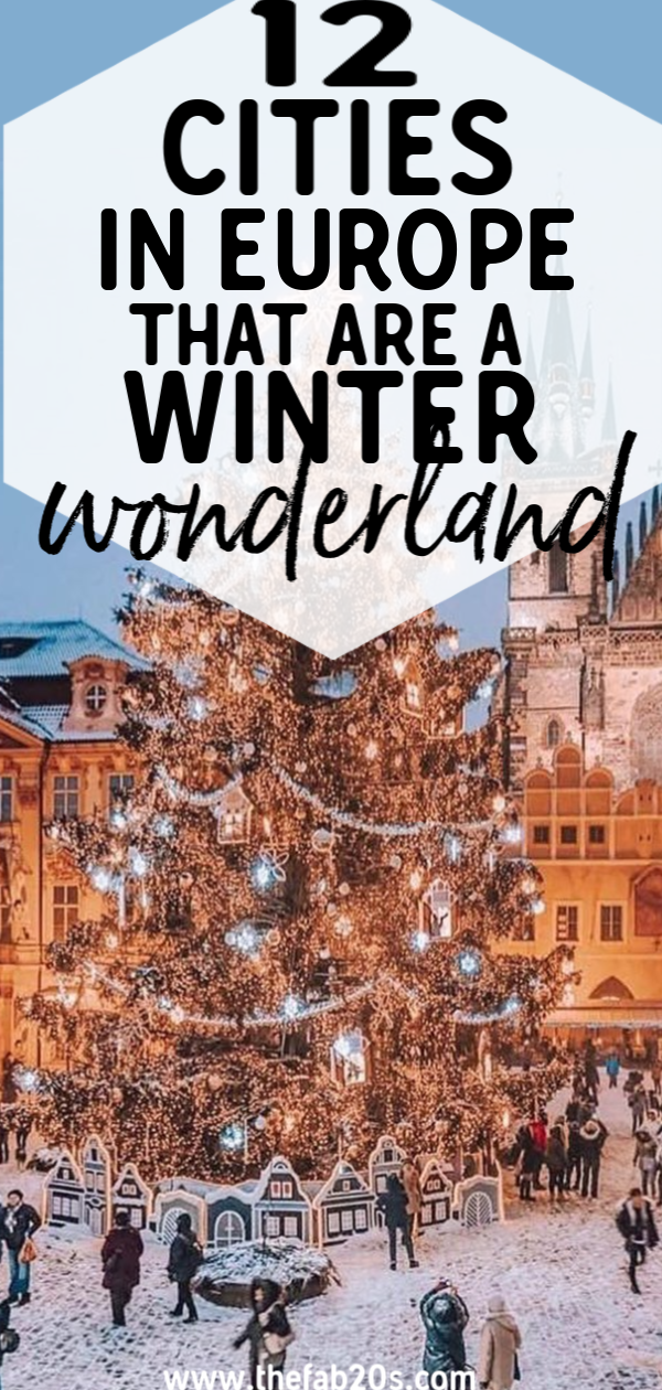 Looking for the best destination in Europe this winter?! We've got you covered! From Christmas markets to a winter wonderland, you won't be asking yourself Is it good to visit Europe in December. Check out the absolute must see places in Europe in winter #travel #winterineurope #wintertravel