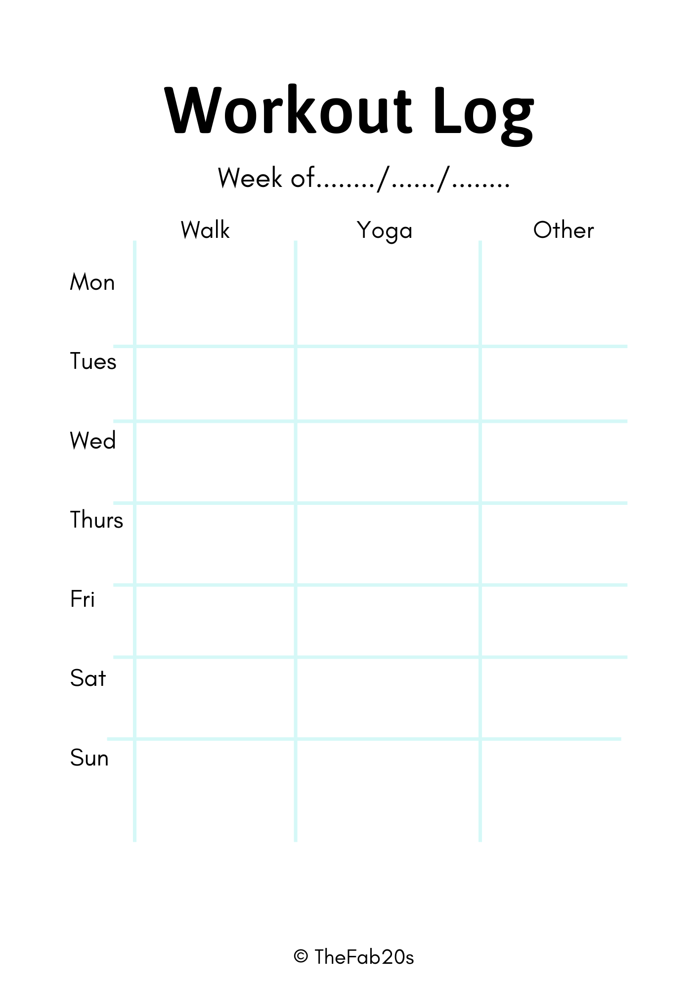Grab a FREE copy of my Printable Fitness Planner. Includes three free workout printables to help you plan and keep track of your meals and fitness goals. #fitnessplanner #printables #freeprintables