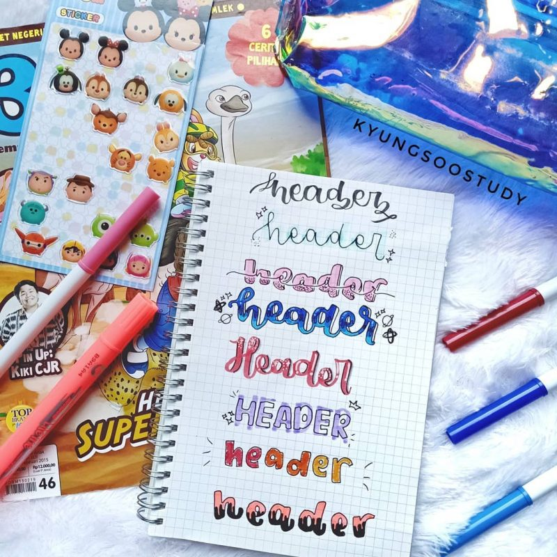 Looking for Bullet Journal Header ideas and Inspiration? Whether you use banners in your BuJo or not, you will love these ideas! Get creative with these easy to follow bullet journal spread ideas you'll love #bulletjournal #bujo