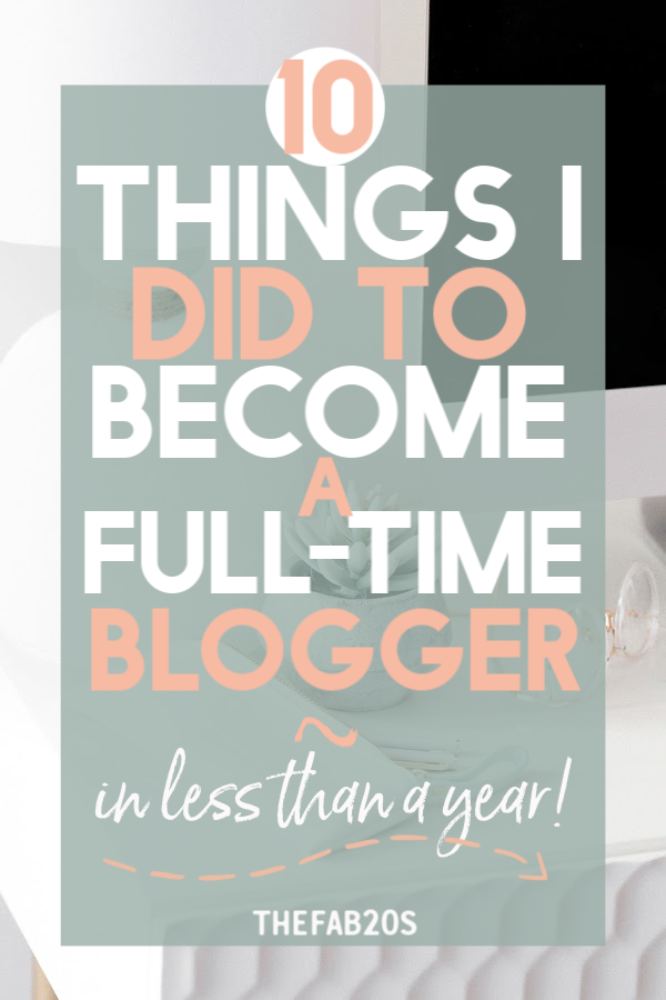 How to become a full time blogger. Things you need in order to become a full time blogger and make an income online #fulltimeblogger #fulltimeblogging #bloggingtips #startablog #blog #howtostartablog