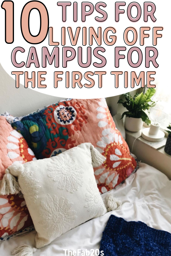 First college apartment tips to get the most of your first year out of the dorms. If it's your first time living off campus you'll want to make sure you read this! There are . a lot of reasons to move off campus, from independence to more privacy. College tips #collegeapartment #dorm #college #collegetips